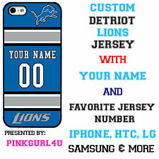 Custom Detroit Lions Phone Case Cover w Your Name & Jersey Number IPhone Samsung
