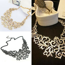 Womens Retro Vintage Hollow Pendant Bib Choker Necklace Statement Chain New