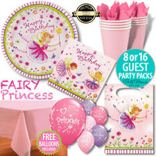 GARDEN FAIRY PRINCESS BIRTHDAY PARTY SUPPLIES BALLOONS DECORATIONS PARTY PACKS