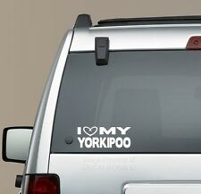 I Heart my Yorkipoo decal sticker - puppy treat Yorkshire Terrier Poodle mix
