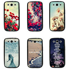 Rose Poppy Flower Life Quote TPU Bumper Hard case For Samsung Galaxy s3 s4 s5