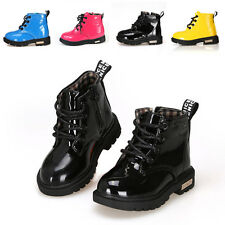 Baby Girls Boys Kids Martin Boots Shoes Childrens Water-proof Size6-4.5 FX1150