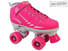 NEW 2015 Epic Galaxy Pink Indoor Outdoor Quad Roller Speed Skates Youth - Adult