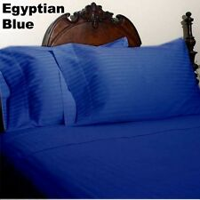 Canadian Bedding Items)- EGYPTIAN BLUE SOLID & STRIPE 1000TC 100%EGYPTIAN COTTON