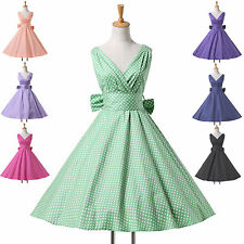 Vintage Rockabilly Retro Swing 50s 60s pinup Polka Dots Party Prom Evening Dress