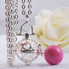Mexican bola harmony ball angel caller pregnant women silver chain necklace