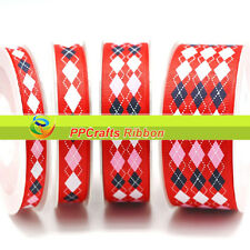 Hot Sale100Yards/roll Grosgrain Ribbon Printed M-Colors diamond For DiY Crafts