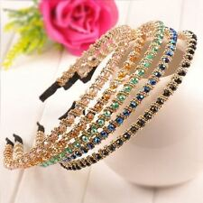 Women's Fashion Rhinestone Bling Hair Style Hoop Crystal Beads Headband