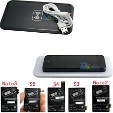 Qi Wireless Charger Pad+ Charging Receiver For Samsung Galaxy S3/4/5 Note2 3 Kit