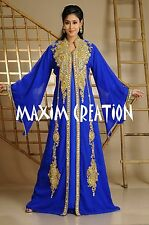 Dubai Farasha Moroccan Kaftan Dress Abaya Jilbab Islamic Arabian clothing 3588