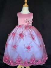 Flower Girl Bridesmaids Wedding Easter Embroidery Dress