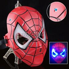 Halloween Cosplay Super Hero Spiderman LED Mask Eye Masks Masquerade Kids Party