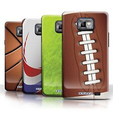STUFF4 Phone Case/Back Cover for Samsung Galaxy S2/SII /Sports Balls