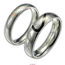 Couple Love Heart 316 L Stainless Steel Comfort Fit Wedding Bands Promise Ring