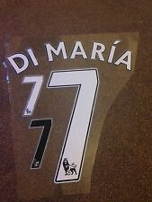 ★★ MANCHESTER UNITED 2014 DI MARIA 7 NAME NUMBER SET FLOCK SHIRT SHORTS KIT ★★