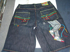 COOGI MENS BLUE DENIM JEANS SHORTS NWT WITH SNEAKER POCKET DESIGN