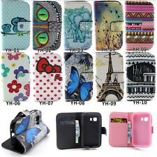 Wallet Flip Leather Phone Case Cover Stand For Samsung Galaxy Young 2 SM-G130