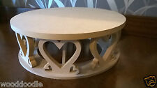 Cake stand, circular or square, with heart decoration - craft, - Wedding, Party