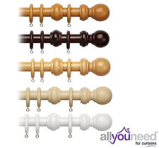 28mm Wooden Curtain Pole with finial