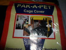 PAK-A-PET SNUGGLE PUP DOG CAT PET CANVAS CRATE CAGE KENNEL COVER S XL XXL NIP