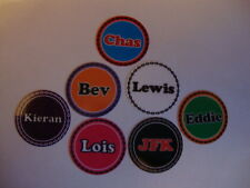 """12 BOWLS STICKERS 1"""" ANY NAME LAWN BOWLS CROWN GREEN  FLAT GREEN INDOOR BOWLS"""