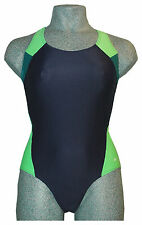 CHEX Swimming Costume Cuba Ladies Navy Blue Green Swim Suit Strapped Back