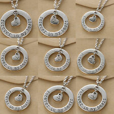 Nice Forever In My Heart Personalized Letter Retro Lovers Necklace Chain Choker