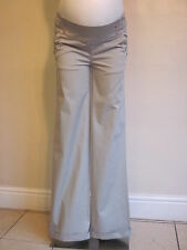 BNWT NOPPIES MATERNITY DESIGNER GREY COTTON CASUAL TROUSERS SIZE 6 8 16 L33