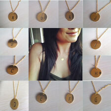 Initial Necklace Personalized Discs Charm Custom Letter Friendship Jewelry Gift