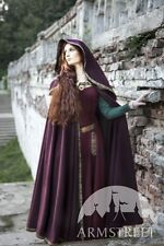 Medieval Costume , Full-round Woolen Medieval Hooded Cloak
