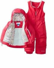New Columbia girls Toddler waterproof 2 pc snowsuit parka snow pants 2T 3T 4T