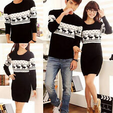 Lovers Womens Mens Clothes Xmas Reindeer Knitting Dress Jumpers Coats Sweaters