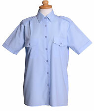 LADIES H/S BLUE PILOT SHIRT WITH ATTACHED EPPS 2019G