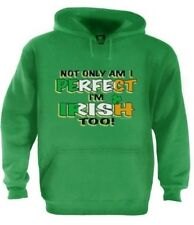 I'm Perfect & Irish Too Hoodie For St. Patrick's Day Patty's Gift Cute Pullover