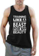 Training Like A Beast For My Beauty Singlet Workout Gym MMA Lifting Gym Vest Top
