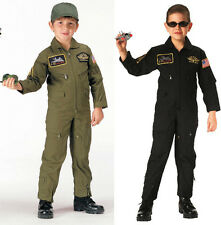 Kids Military Style Army Navy Air Force Marines Flight Suit Coveralls With Patch