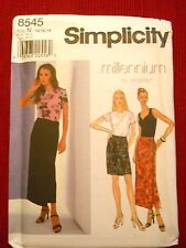 Misses Top Skirt & Knit Tank Top Simplicity 8545 Sizes 10 -20
