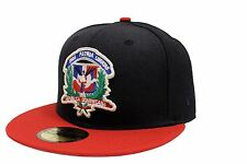New Era 59Fifty DR Crest Fitted Cap 2 Tone Navy Blue Red Dominican Republic Flag
