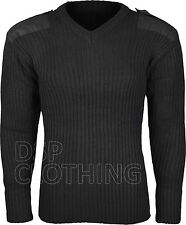 Mens Army Pullover Security Military Jumper Big Sizes Up To 4XL Knitted Top