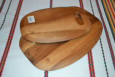 Solid Acacia Wood Wooden Surf Chopping Serving Cutting Board Tray Platter Eco