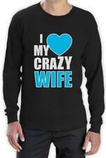 I Love My Crazy Wife Long Sleeve T-Shirt Matching Couple For Valentine's Day Top