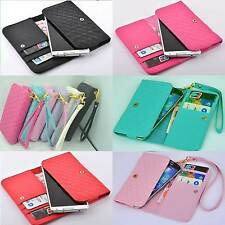 luxury multifunction Wallet Card Holder soft Cover Case Pouch For ZTE mobile