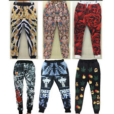 Newest Hiphop Men Women sport 3D fun people leaf gold emoji Rose jogger pants