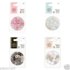 Docrafts Papermania Polka Dot Buttons Button Capsule Collection 30pcs 10mm