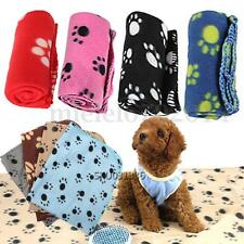 Winter Soft Warm Cozy Paw Print Fleece Pet Blanket Puppy Dog Cat Bed Mat Cover