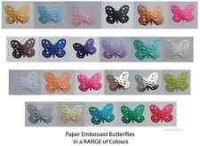 Butterflies Embossed Paper Punches MULTI LISTING! 30 Pieces