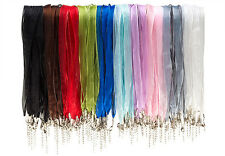 """18"""" RIBBON CORD ORGANZA VOILE 18 INCHES NECKLACES LOBSTER CLASP DIY CRAFT"""