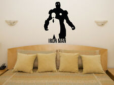 Iron Man Marvel Superhero Hero Kids Children's Decal Wall Art Sticker Picture