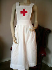 """COTTON ADULT NURSE APRON """"RED CROSS INSPIRED"""" - WW2 WW1 RE-ENACTING WAR TIME"""