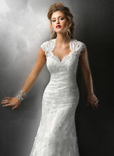 New Cheap White/Ivory Lace Sweetheart Wedding dresses size 4 6 8 10 12 14 16 16W